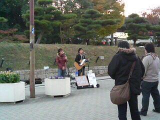 大阪城ホール前路上 2007.11.24