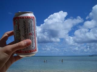 ココス島でビール