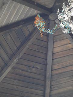 天井… 天井はね。。 塗るの大変だったなぁ…