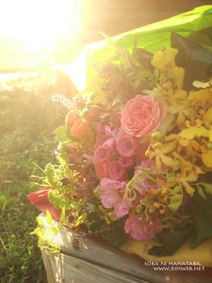 結婚式2次会、新婦様への花束@柏市花屋 空に花束 「お任せで!お願い!」