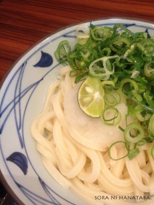 丸亀製麺のおろし醤油うどん(冷)@松戸・栗ヶ沢店にて