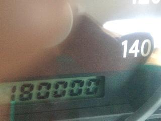祝、空花号、180000キロ
