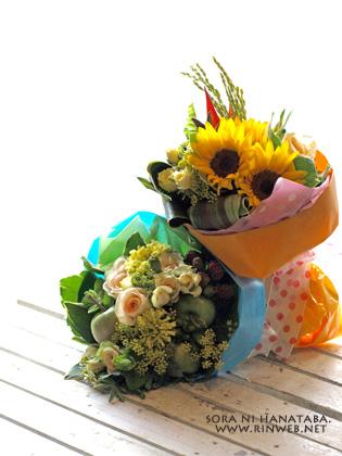 結婚式、受付の花束(ミニブーケ)を。/オリエンタルホテル東京ベイへ