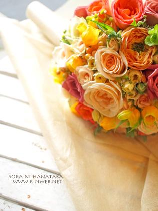 お色直し用ブーケ(ラウンドブーケ)@オリエンタルホテル東京ベイへお届けのウエディングブーケ