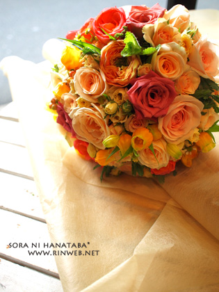結婚式/ラウンドブーケ@オリエンタルホテル東京ベイへお届け(お色直し用ブーケ)