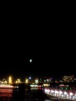 船の上でいっぱいの夜景を見れた日。