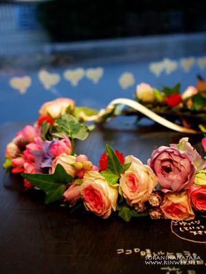 ウエディング/花嫁様の花冠とミニブーケをお届け