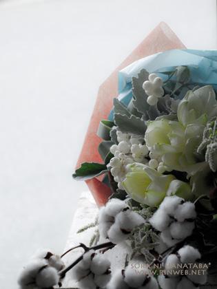 誕生日お祝い花「純真無垢な男性へ贈る花束を」