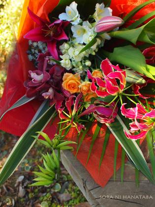ご両親へ花束を。(二束)@アニヴェルセル 柏へお届け