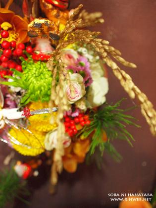 生花のお正月飾り(壁掛け)