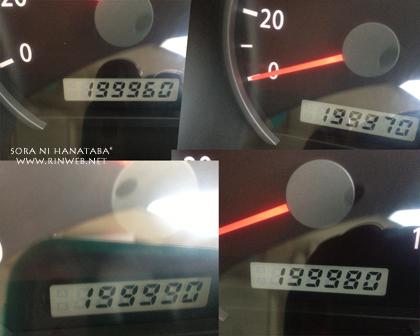 空花号、今日200000キロ*^-^~