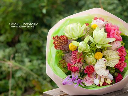 お誕生日おめでとう!の花束を@花屋 空に花束