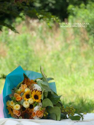 彼氏さんから彼女へ贈る花束を。