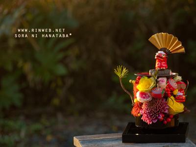 船橋市内へお届けのお正月飾り/生花