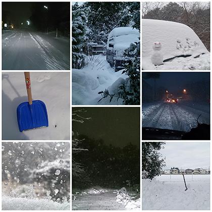 2014年2月8日、大雪の日。