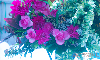 柏市内へお届けのお誕生日おめでとうのスタンド花