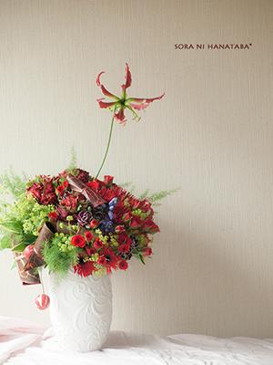 母へ贈る誕生日お祝い花@福井県福井市内へお届け