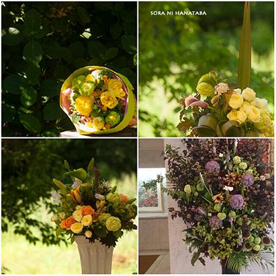 5月お届けのスタンド花、アレンジメントを。@花屋/空に花束
