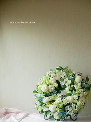 お別れ会の花を。(リース)/お悔やみの花