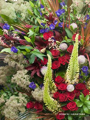 横浜アリーナへお届けのスタンド花