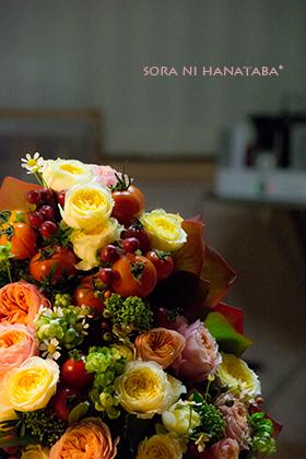 ご両親へお祝い花@福島へお届け