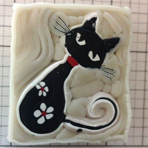 polymerclay cat