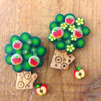 ポリマークレイ リンゴの木