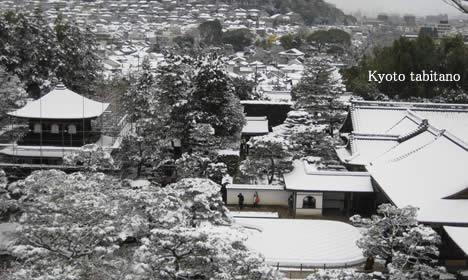 雪の銀閣寺