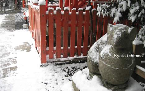 雪の狛ねずみ