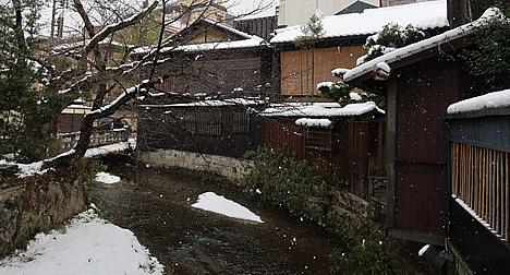 祇園白川 雪