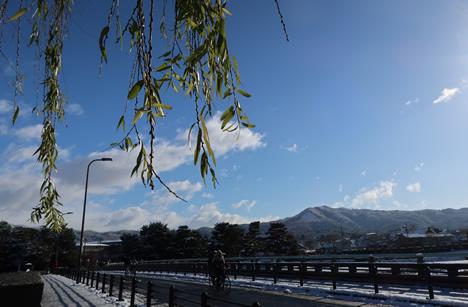 雪の出町柳 大文字