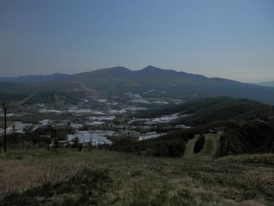 2013.05.25オオマツ山頂からの、根子岳、四阿山