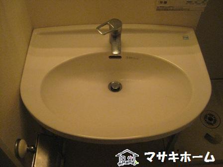洗面器リペアbefore
