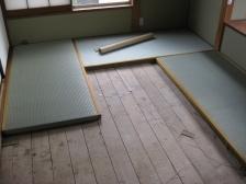 畳表替え施工中