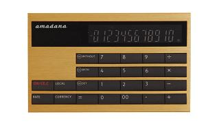 カード型計算機(LC-404)ゴールド