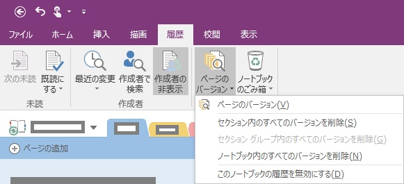 OneNote Page Number Of Versions