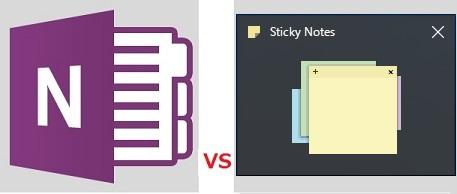 OneNote VS Sticky Notes