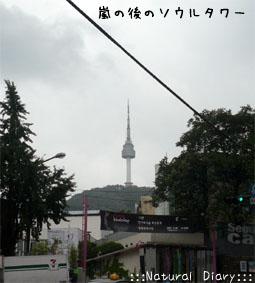 雨上がりのNソウルタワー 霧が晴れたエンソウルタウォ(ナムサンタウォ)