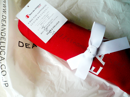dean & deluca ディーンアンドデルーカ トートバッグ 白 黒 グレー 赤 クリスマス限定 東京駅 GRANSTA