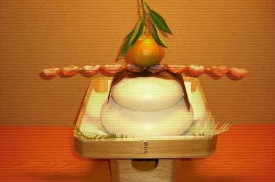 鏡餅 干し柿