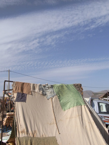 マーケットのテント