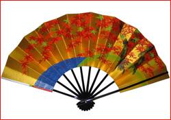 お飾り扇[9寸5分]:金銀蒸着『紅葉−桜』