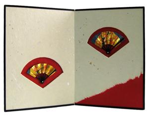 【京都和のお店】お飾りミニ屏風/天保屏風−赤