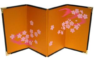 【京都和のお店】4曲屏風#5 桜水
