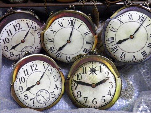 時計がま口