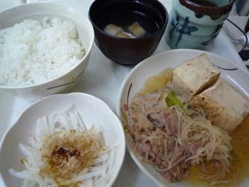 今日の病院食9月10日夜、すき焼き風^^