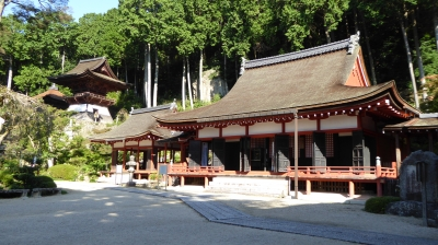 長命寺 三仏堂と鐘楼