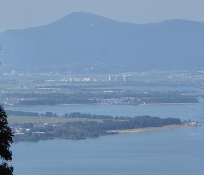 長命寺 琵琶湖