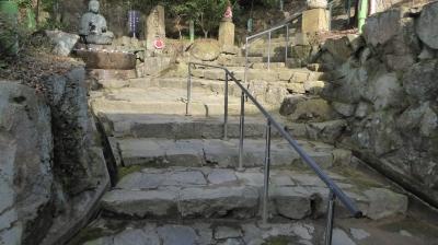 菩提寺 手水所と階段