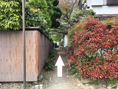元慶寺脇道